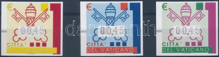 Automatic imperforated stamp set, Automata vágott bélyeg sor