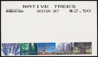 Trees, plants stripe of 5, Fák, növények ötöscsík