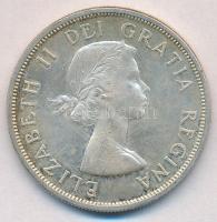 Kanada 1963. 1$ Ag II. Erzsébet T:2,2- Canada 1963. 1 Dollar Ag Elizabeth II C:XF,VF Krause KM#54
