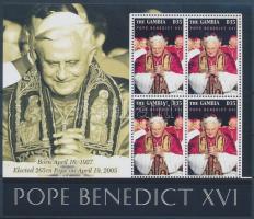 Pope Benedict XVI. mini sheet, Benedek pápa kisív