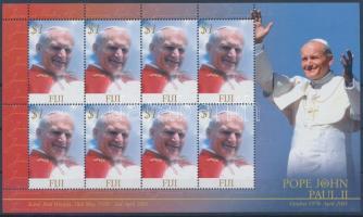 Pope John Paul II  minisheet In Memoriam II János Pál pápa kisív