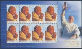 2005 II. János Pál pápa emlékére kisív Mi 979