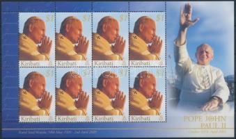 In memory of Pope John Paul II. minisheet, II. János Pál pápa emlékére kisív