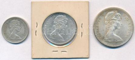 Kanada 1967. 25c Ag + 50c Ag + 1$ Ag II. Erzsébet T:1-,2 Canada 1967. 25 Cents Ag + 50 Cents Ag + 1 Dollar Ag Elizabeth II C:AU,XF