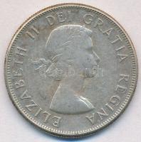 Kanada 1959. 50c Ag II. Erzsébet T:2,2- Canada 1959. 50 Cents Ag Elizabeth II C:XF,VF