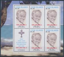 Pope John Paul II. mini sheet II. János Pál pápa emlékére kisív