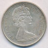 Kanada 1966. 50c Ag II. Erzsébet T:2 Canada 1966. 50 Cents Ag Elizabeth II C:XF