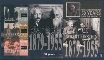 2005 Albert Einstein kisív + blokk Mi 1233-1235 + 128