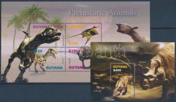 Prehistoric Animals mini sheet set + blockset, Ősállatok kisívsor + blokksor