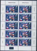 Accession to the Eurpean Unio minisheet Belépés az Európai Unióba kisív