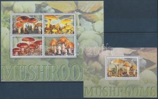 Mushroom minisheet + blokk, Gombák kisív + blokk
