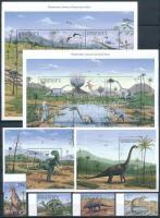 Prehistoric animals set + minisheet set + block set, Ősállatok sor + kisívsor + blokksor