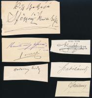 Aláírásgyűjtemény: Glück Frigyes, Szabó Kálmán, Högyészi Marik Géza és három másik aláírás