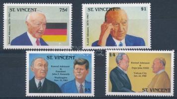 1992 Konrad Adenauer halálának 25. évfordulója sor Mi 2293-2296