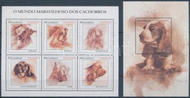 Dogs minisheet + block, Kutyák kisív + blokk