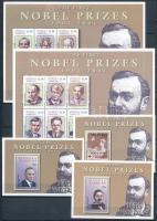 Nobel Laureates 2 mini sheets + 3 blocks, Nobel-díjasok 2 kisív + 3 blokk
