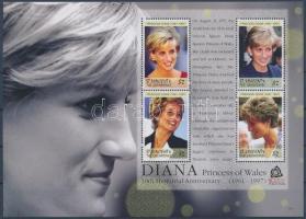Princess Diana mini sheet + blockset, Diána hercegnő kisív + blokksor