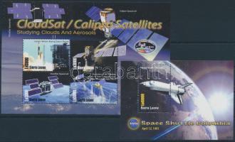 2006 Űrkutatás kisív Mi 4973-4976 + blokk Mi 629