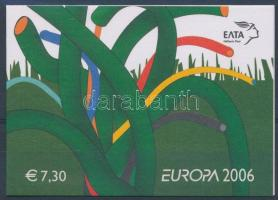 Europa CEPT stamp-booklet, Europa CEPT bélyegfüzet