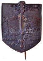 Osztrák-Magyar Monarchia 1916. Magyar Királyi 20. Honvéd Gyaloghadosztály - ML.S. Michele - S. Martino 1915-1916 Br sapkajelvény (27x35mm) T:2 Austro-Hungarian Monarchy 1916. 20th Royal Hungarian Honved Infantry Division - ML.S. Michele - S. Martino 1915-1916 Br cap badge (27x35mm) C:XF