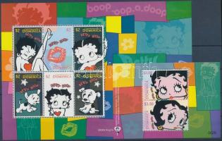 Betty Boop  minisheet + block, Betty Boop rajzfilm kisív  + blokk