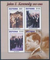 2007 John F. Kennedy 90. születésnapja kisív Mi 7936-7939