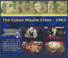 John F. Kennedy and the Cuban Missile Crises mini sheet, John F. Kennedy és a kubai rakétaválság kisív