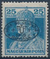 Debrecen I. 1919 Károly 25f fekete felülnyomással Bodor vizsgálójellel (20.000)