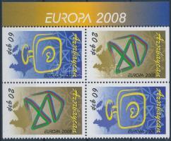 Europe CEPT block of 4 from booklet Europa CEPT bélyegfüzetből kitépett négyestömb