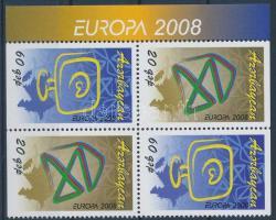 Europa CEPT block of 4 from stamp-booklet, Europa CEPT bélyegfüzetből kitépett négyestömb