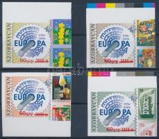Europa CEPT stamp imperforated margin set, 50 éves az Europa CEPT bélyeg ívszéli vágott sor