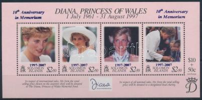 Princess Diana overprinted block, Diana hercegnő felülnyomott blokk
