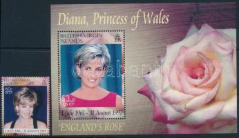 Princess Diana stamp + block Diana hercegnő bélyeg  + blokk