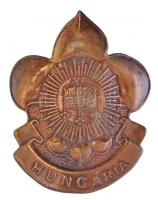 ~1940. Hungaria Br cserkész sapkajelvény (48x38mm) T:2,2-