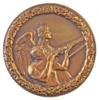 Sződy Szilárd (1878-1939) ~1935. Levente lövész jelvény, Br jelvény (48mm) T:2