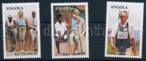 1998 Diana hercegnő sor záróértékei Mi 1179-1181