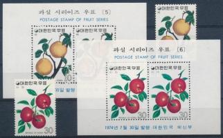 Fruits (3.) set + block set, Gyümölcsök (3.) sor + blokksor