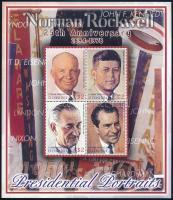 Norman Rockwell paintings  set + block Norman Rockwell festmények:Amerikai elnökök + blokk