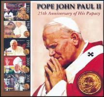 John Paul II. mini sheet, II. János Pál 25 éve pápa kisív