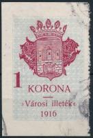 1914 Székesfehérvár városi illetékbélyeg 1 sz. (30.000)