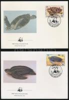 1983 WWF Teknősök sor 4 db FDC-n Mi 541 - 544 A
