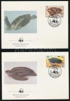 WWF Turtles  set on 4 FDC WWF Teknősök sor 4 db FDC-n