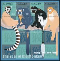 Chinese New Year: Year of the monkey  minisheet, Kínai Újév: Majom éve kisív