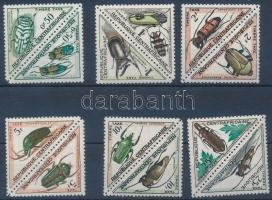 Insects postage set, Rovarok portó sor