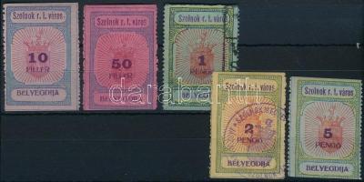1927 Szolnok városi illeték 39-43 sz. bélyeg (27.500)