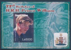 2003 Vilmos herceg 21. születésnapja blokk Mi 576