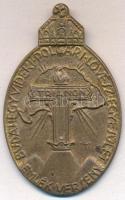 1937. Budahegyvidéki Polgári Lövész Egyesület Emlék Verseny - Trianon irredenta Br jelvény. Szign.:LI (63x40mm) T:2
