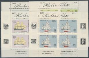 Ship, stamp exhibition mini sheet set, Hajó, bélyegkiállítás kisív sor