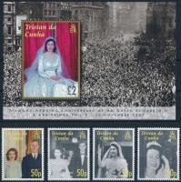 Anniversary of wedding of queen Elizabeth II and prince Philip set + block II. Erzsébet királynő és Fülöp herceg gyémánt lakodalma sor  + blokk