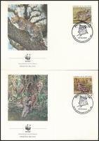 1988 WWF Kisméretű macskafélék sor 4 db FDC-n Mi 1734-1737